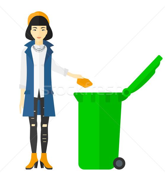 женщину мусор азиатских зеленый Сток-фото © RAStudio