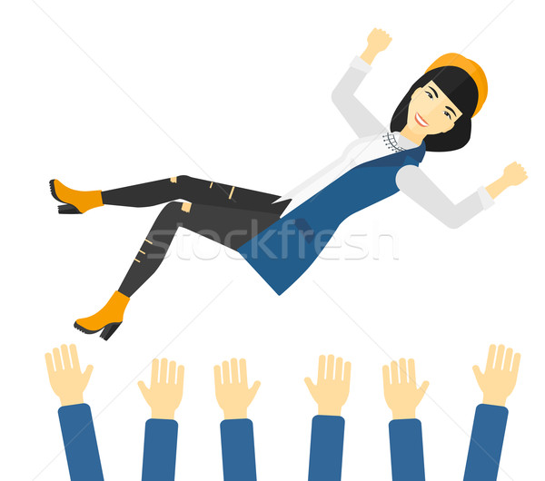 Successful business woman during celebration. Stock photo © RAStudio