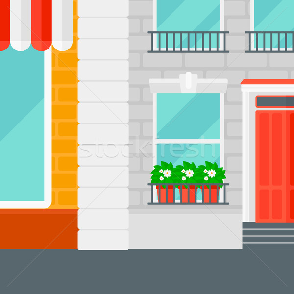 Background of cafe facade. Stock photo © RAStudio