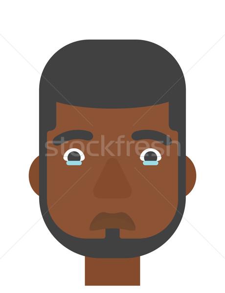 Foto stock: Jovem · deprimido · homem · vetor · projeto · ilustração