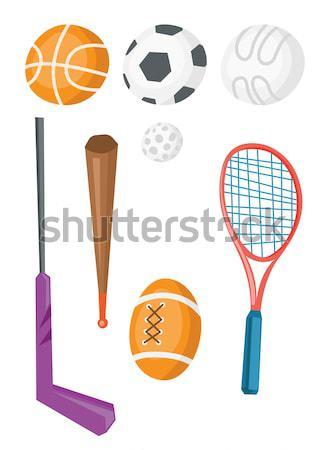 Wybór sprzęt sportowy wektora projektu ilustracja odizolowany Zdjęcia stock © RAStudio