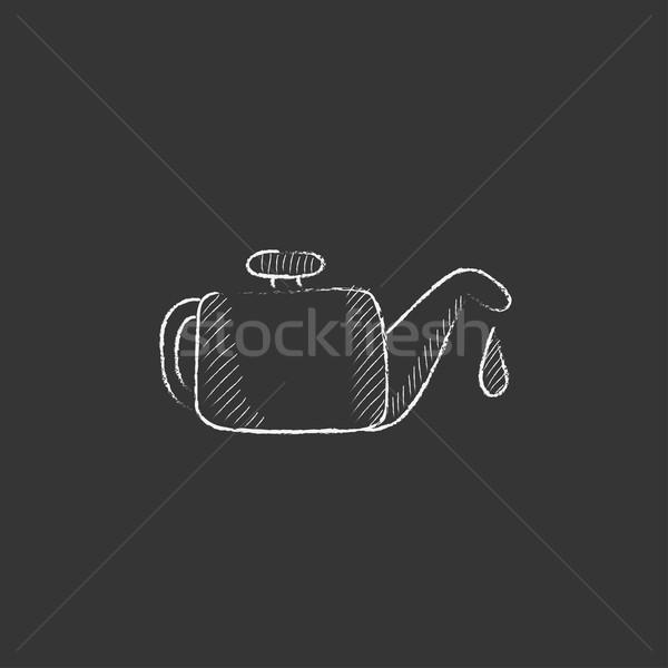 チョーク アイコン 手描き ベクトル 孤立した ストックフォト © RAStudio