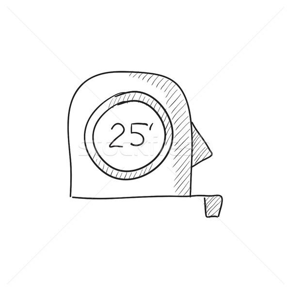 рулетка эскиз икона вектора изолированный рисованной Сток-фото © RAStudio