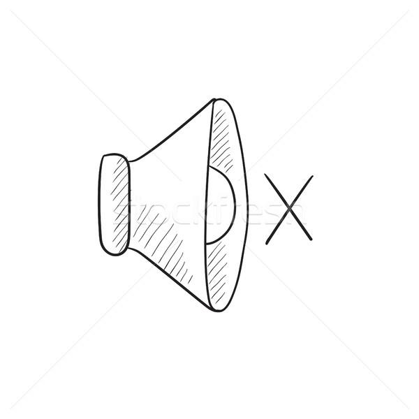 Néma hangszóró rajz ikon vektor izolált Stock fotó © RAStudio