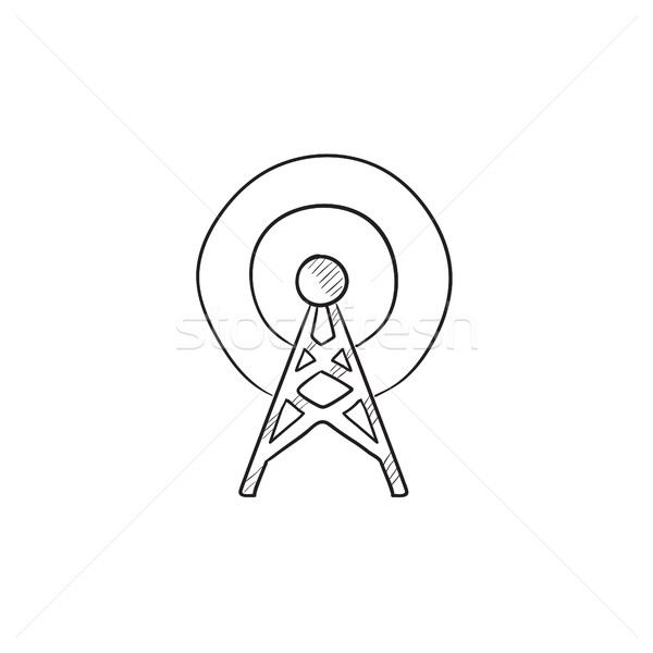 Antenna sketch icon. Stock photo © RAStudio