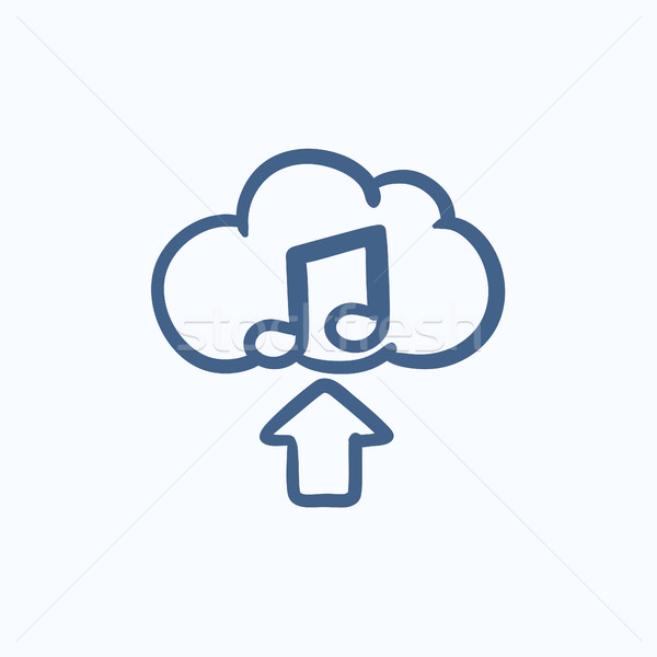 Upload music sketch icon. Stock photo © RAStudio