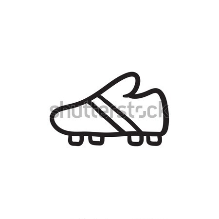Football boot sketch icon. Stock photo © RAStudio
