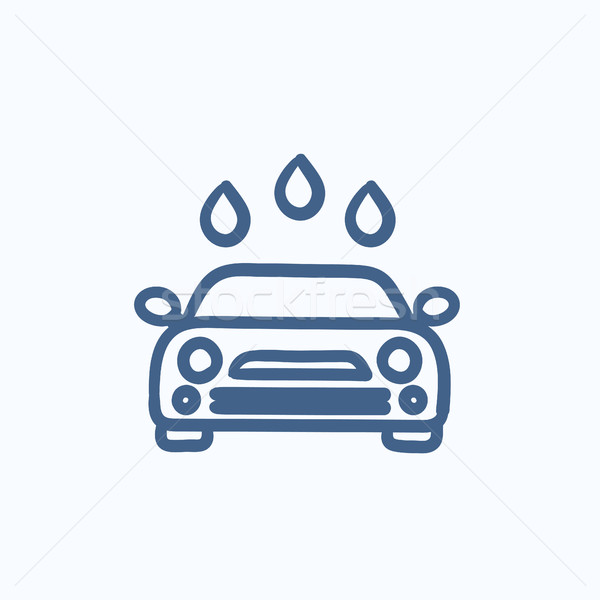 Car wash schets icon vector geïsoleerd Stockfoto © RAStudio