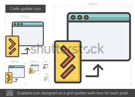 Codice aggiornare line icona vettore isolato Foto d'archivio © RAStudio