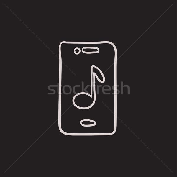 Teléfono boceto icono vector aislado Foto stock © RAStudio