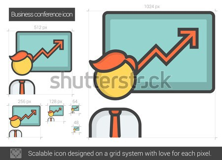Business conference line icon. Stock photo © RAStudio