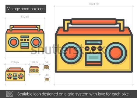 Vintage boombox line icon. Stock photo © RAStudio