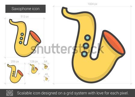 Saxophone line icon. Stock photo © RAStudio