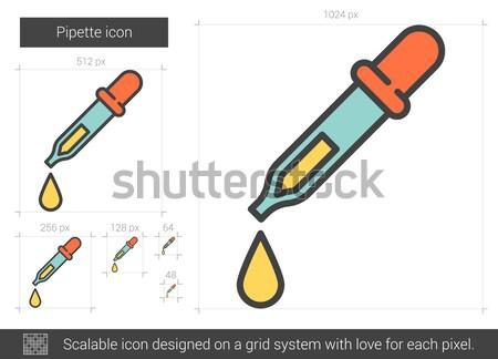 Pipette line icon. Stock photo © RAStudio