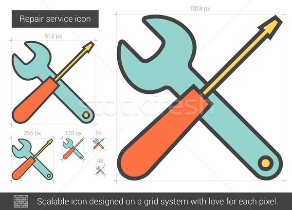 Repair service line icon. Stock photo © RAStudio