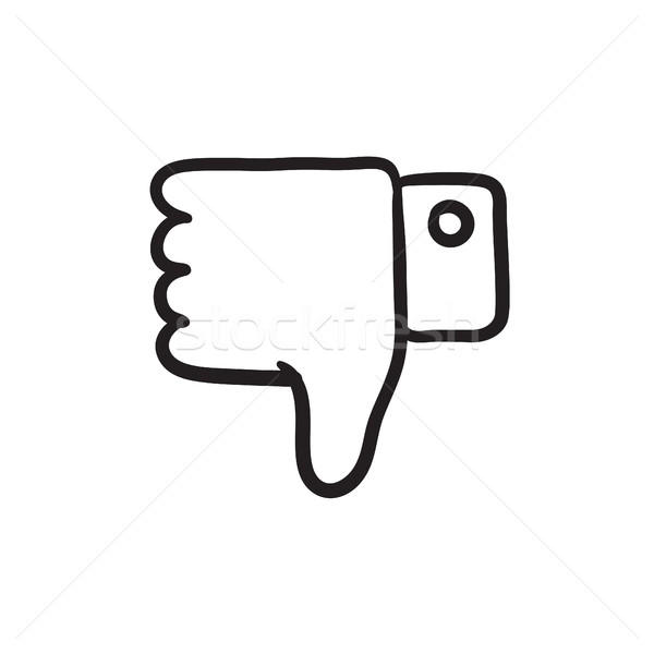 Thumb down hand sign sketch icon. Stock photo © RAStudio