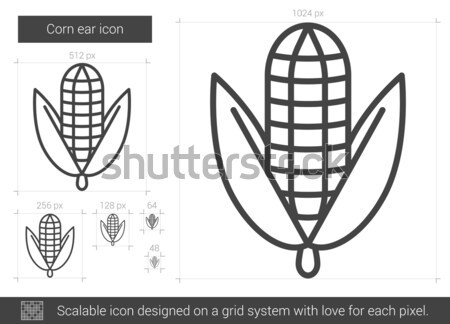 Corn ear line icon. Stock photo © RAStudio