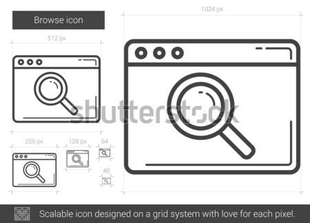 Browse line icon. Stock photo © RAStudio