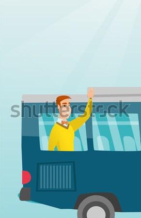 Zły kobieta samochodu korku Zdjęcia stock © RAStudio