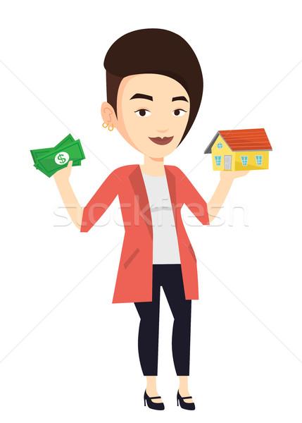 Woman buying house thanks to loan. Stock photo © RAStudio