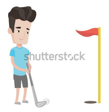 ゴルファー ボール 小さな アジア 演奏 ゴルフ ストックフォト © RAStudio