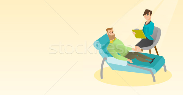 Psychologist having session with patient. Stock photo © RAStudio