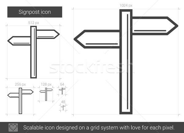 Signpost line icon. Stock photo © RAStudio