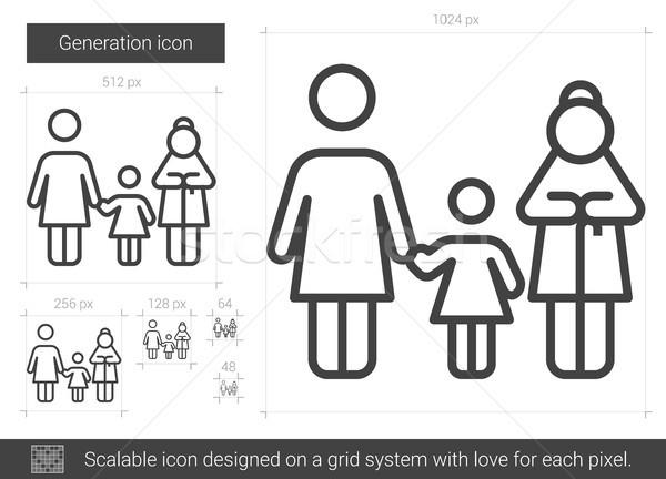 Generáció vonal ikon vektor izolált fehér Stock fotó © RAStudio