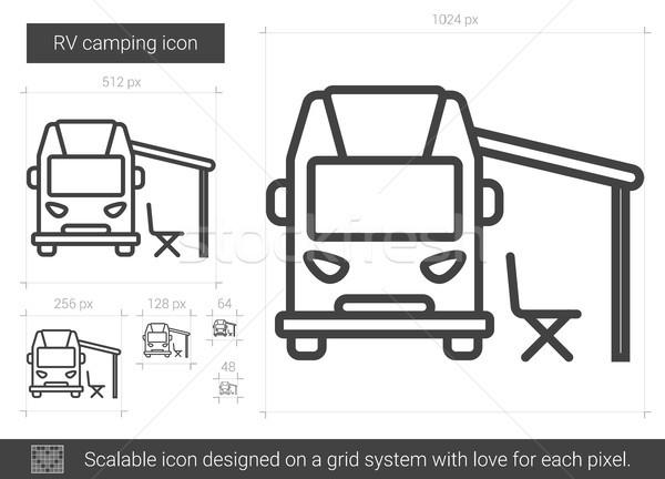 RV camping line icon. Stock photo © RAStudio