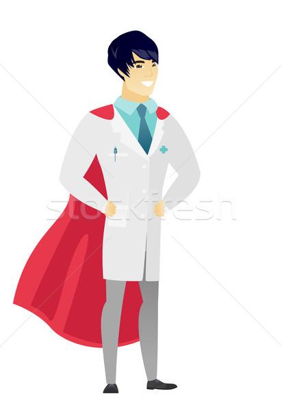 Doctor wearing a red superhero cloak. Stock photo © RAStudio