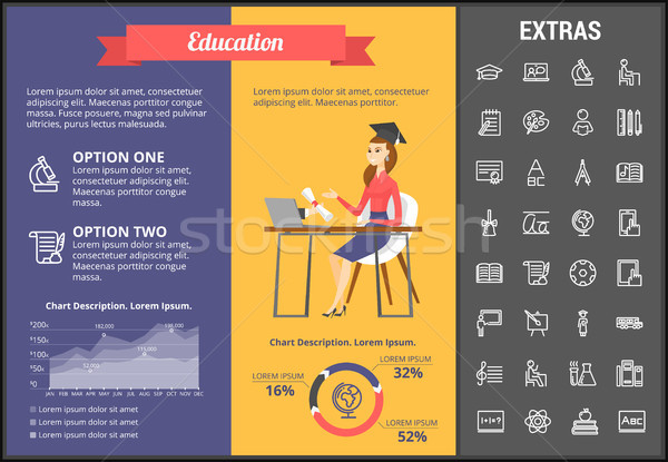 Stock photo: Education infographic template, elements and icons