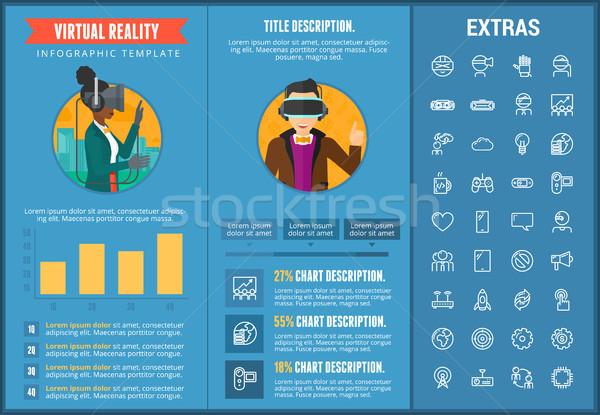 Virtual reality infographic template and elements. Stock photo © RAStudio