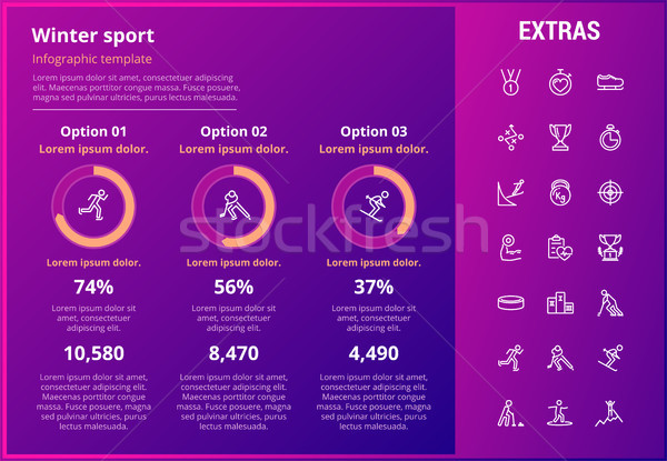 Winter sport infographic template, elements, icons Stock photo © RAStudio