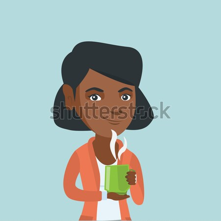 Young african-american student hugging a book. Stock photo © RAStudio