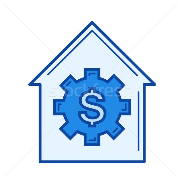 House price line icon. Stock photo © RAStudio