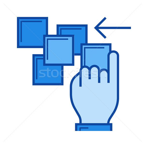 Shove line icon. Stock photo © RAStudio