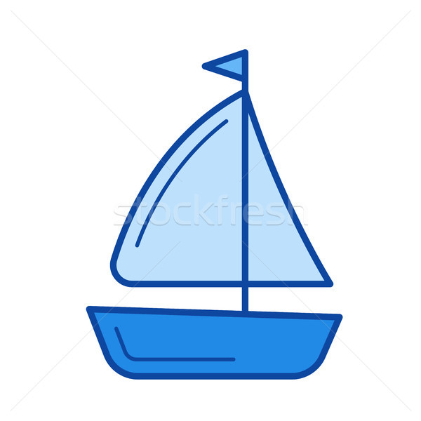 Sailing vessel line icon. Stock photo © RAStudio