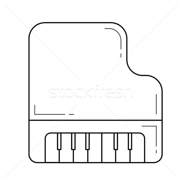 Hangversenyzongora vonal ikon vektor izolált fehér Stock fotó © RAStudio