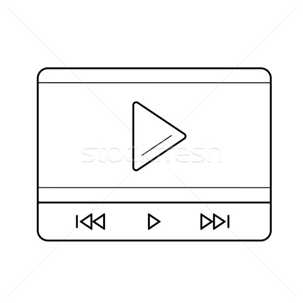 Video play line icon. Stock photo © RAStudio