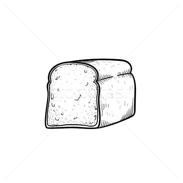 Half of bread hand drawn sketch icon. Stock photo © RAStudio