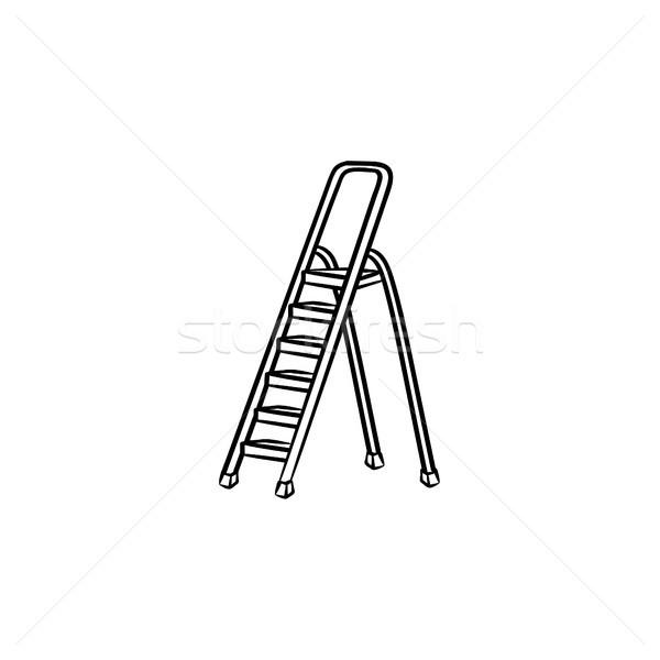 Stepladder hand drawn sketch icon. Stock photo © RAStudio
