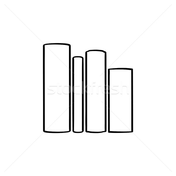 School books on literature hand drawn sketch icon. Stock photo © RAStudio