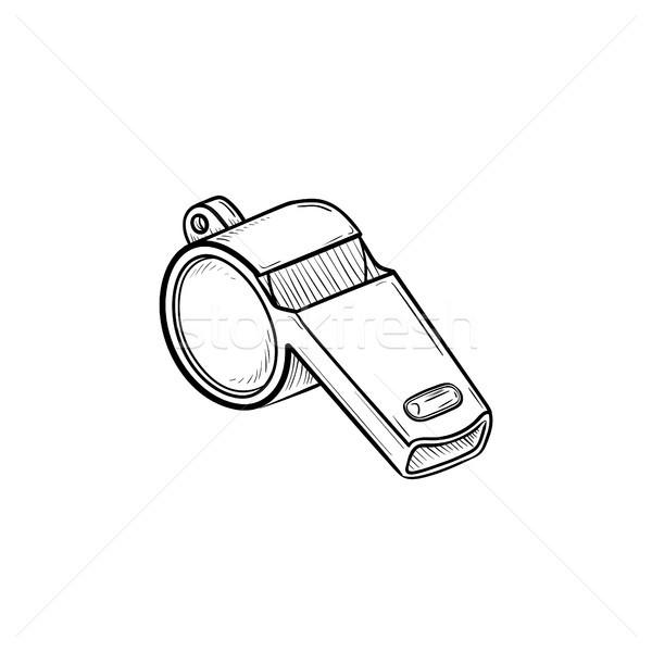 Síp kézzel rajzolt skicc firka ikon verseny Stock fotó © RAStudio