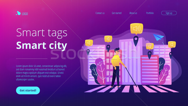 Barrier-free environment and smart city concept illustration. Stock photo © RAStudio