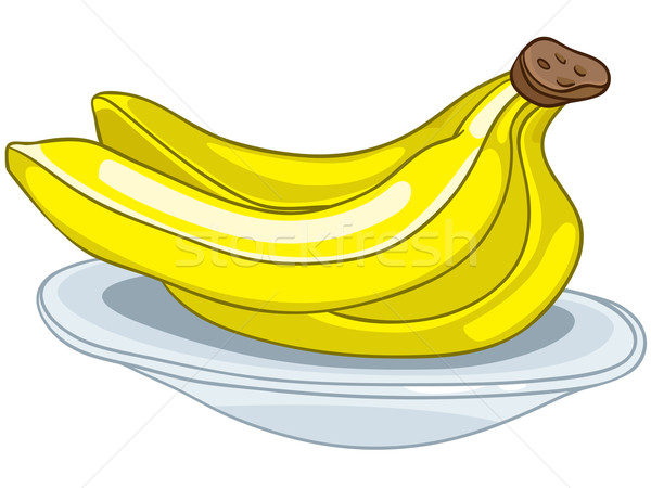 Cartoon voedsel vruchten banaan geïsoleerd witte Stockfoto © RAStudio