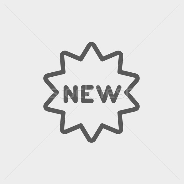 New tag thin line icon Stock photo © RAStudio