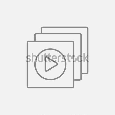 Media player thin line icon Stock photo © RAStudio
