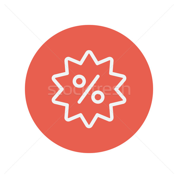 Stock photo: Discount tag thin line icon