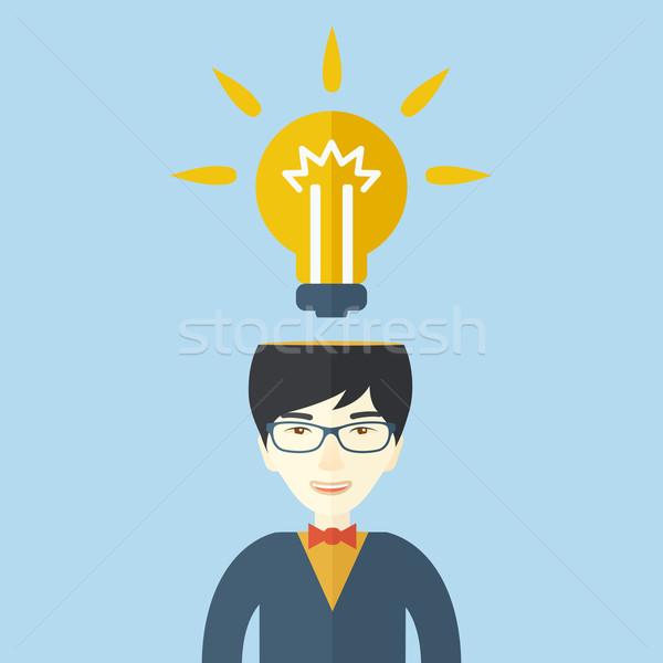 Businessman has a bright idea. Stock photo © RAStudio