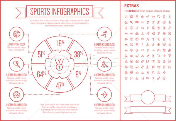 Sport lijn ontwerp sjabloon communie Stockfoto © RAStudio